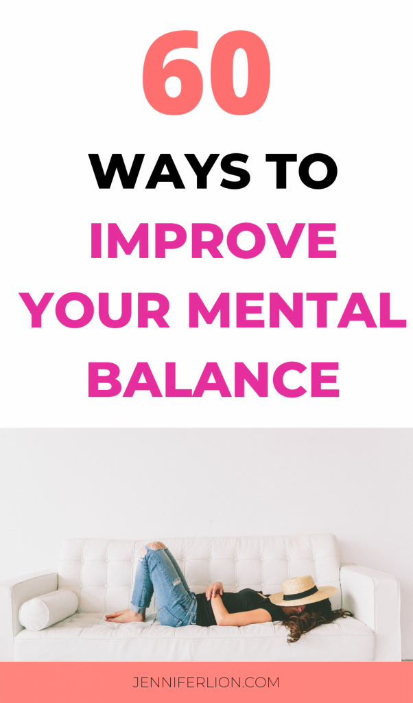 improve your mental balance